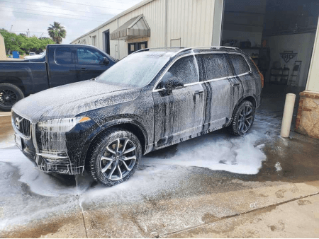 Ceramic coating being maintained