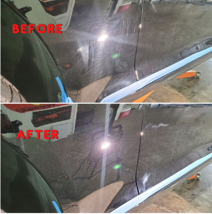 Before & After polishing